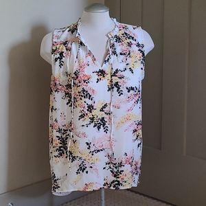 Joe Fresh sleeveless floral blouse. Size medium.